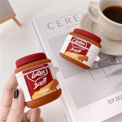Lotus Caramel Cookie Spread Premium AirPods Case Shock Proof Cover