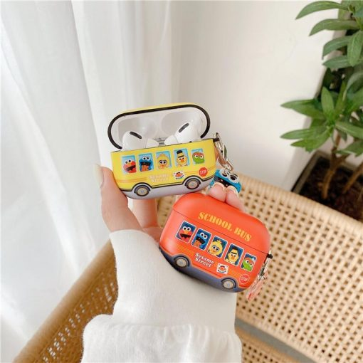 Sesame Street Bus AirPods Pro Case Shock Proof Cover