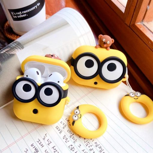 Whistling Minions Premium AirPods Case Shock Proof Cover