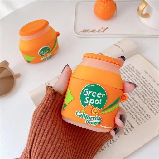 Green Spot Orange Juice Premium AirPods Case Shock Proof Cover