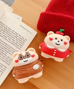 Cute Teddy Bear 'Hearts' Premium AirPods Pro Case Shock Proof Cover