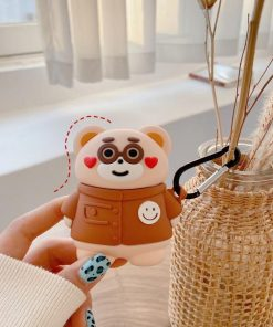 Cute Teddy Bear 'Hearts' Premium AirPods Case Shock Proof Cover