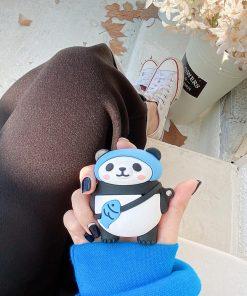 Cute Panda with Fish Bag Premium AirPods Case Shock Proof Cover