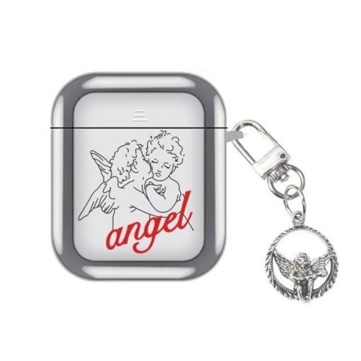 Angel Silver Plated AirPods Case Shock Proof Cover