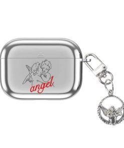 Angel Silver Plated AirPods Pro Case Shock Proof Cover