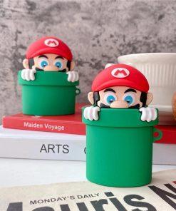 Super Mario Bros 'Warp Pipe' Premium AirPods Case Shock Proof Cover