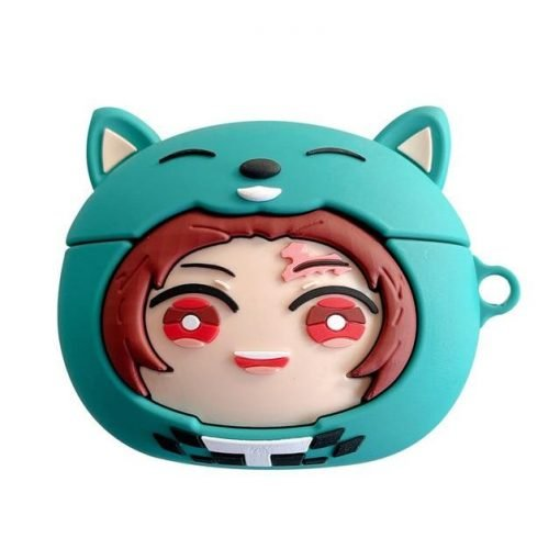 Demon Slayer 'Tanjiro | Blue Hat' AirPods Pro Case Shock Proof Cover