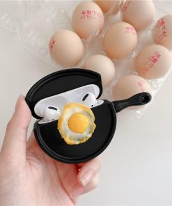 Fried Egg on Pan Premium AirPods Pro Case Shock Proof Cover