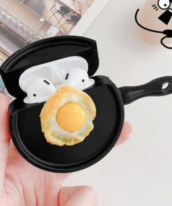 Fried Egg on Pan Premium AirPods Case Shock Proof Cover