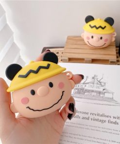 Charlie Brown in a Mouse Hat Premium AirPods Pro Case Shock Proof Cover