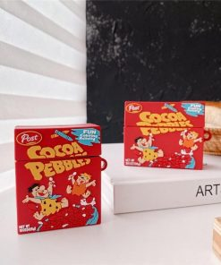 Cocoa Pebbles Cereal Premium AirPods Case Shock Proof Cover